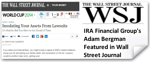 IRA Financial Group's Adam Bergman Quoted in Wall Street Journal